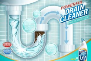 Commercial drain cleaner poster
